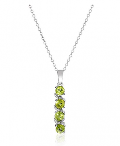 Amazon Collection Sterling Silver 4-Stone Necklace
