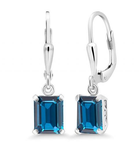 Gem Stone King Sterling Silver Blue Earrings