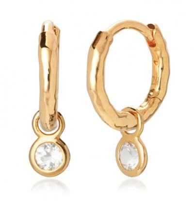 Monica Vinader Mini Gem Huggie Earrings