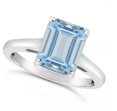 Macy's Sky Blue Topaz Ring in Sterling Silver