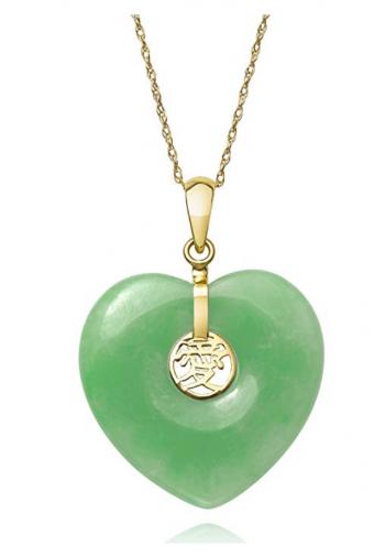 Belacqua Heart Jade Pendant