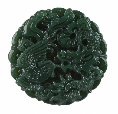 C1lint7785631 Hand Dragon Phoenix Jade Pendant