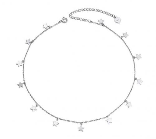 DAOCHONG Sterling Silver Pendant Star Choker