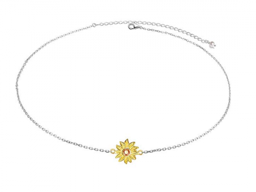 Ladytree You Are My Sunshine Sunflower Pendant Necklace
