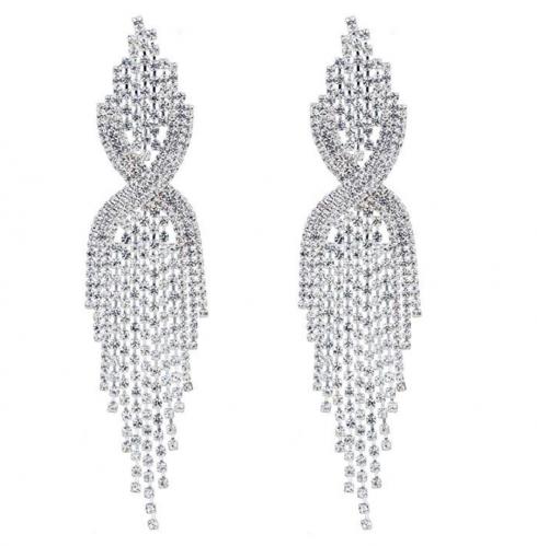 CHRAN Silver Chandelier Earrings