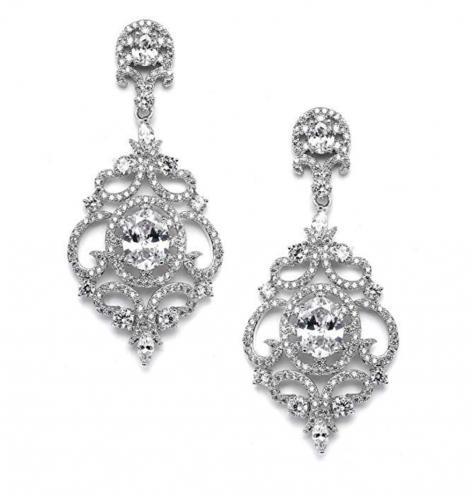 Mariell Victorian Scrolls Chandelier Earrings