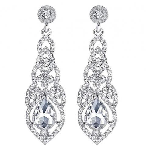 Mecresh Crystal Chandelier Earrings