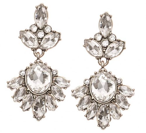 Happiness Boutique Clear Color Crystal Earrings