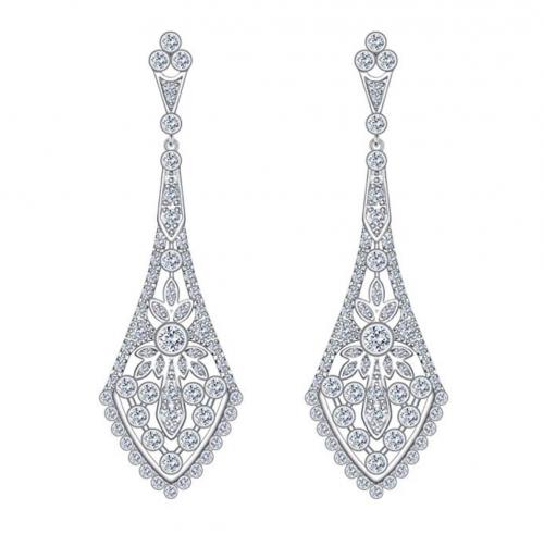 EVER FAITH Silver Earrings