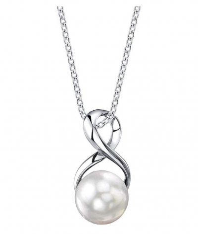 The Pearl Source Genuine Freshwater Cultured Pearl Necklace
