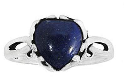 10. BillyTheTree Gemstone Jewelry Ring with Lapis Lazuli