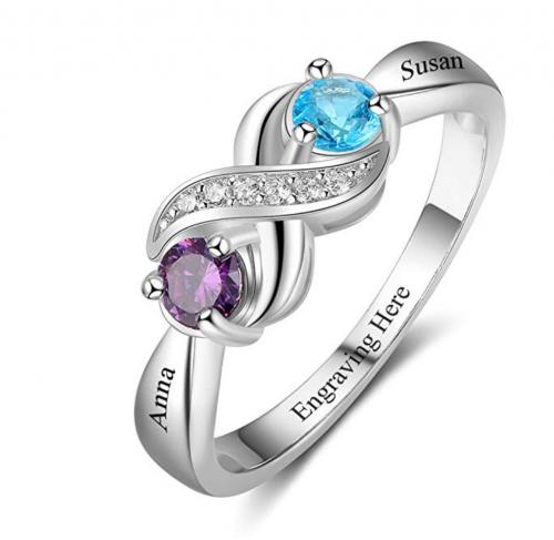 Love Jewelry 925 Sterling Silver Ring - Choose Any Zodiac Birthstone