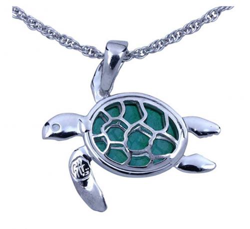 7. Guy Harvey Enameled Sea Turtle Necklace