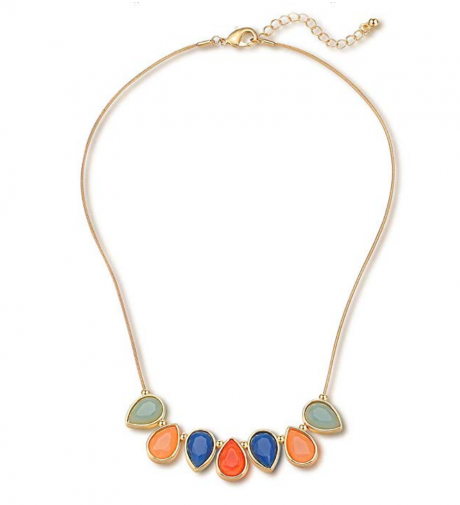 1. FAMARINE Vintage Tribe Chunky Collar Statement Necklace