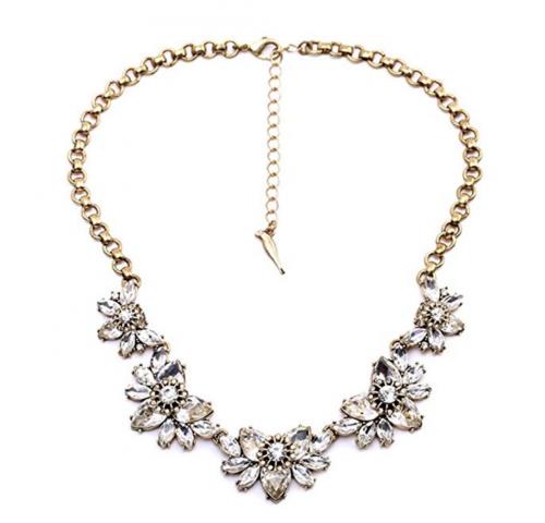 3. FitandWit Rhinestone Crystal Statement Choker Necklace