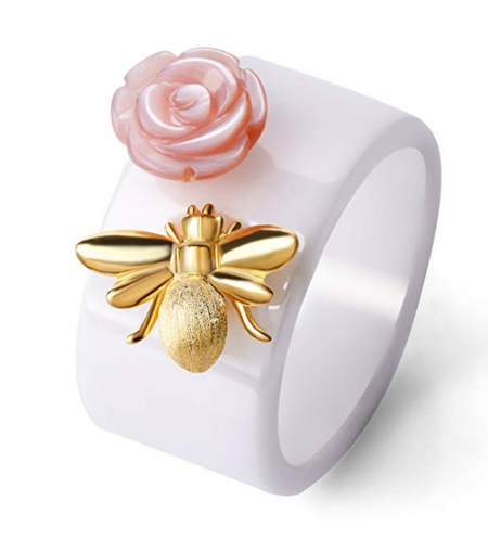 8. Lotus Fun Bee Kiss from a Rose Ring