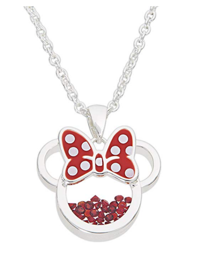 1. Disney Birthstone Women and Girls Jewelry Minnie Mouse Necklace