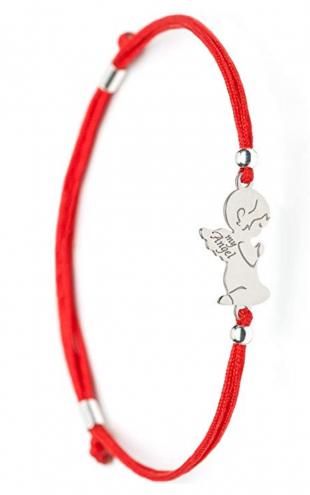 2. SOLOMIYA Silver Angel Evil Protection Lucky Charm Bracelets