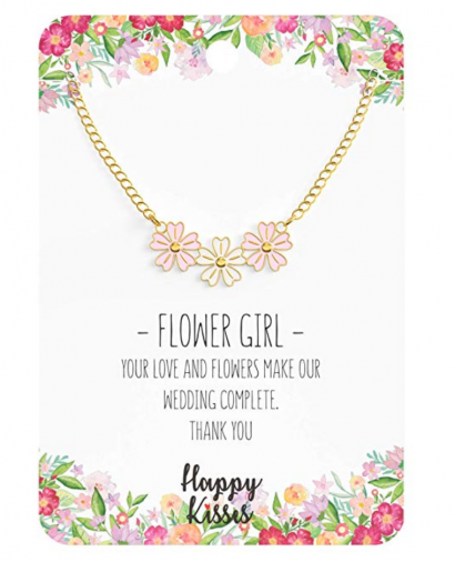 3. Happy Kisses Flower Girl Necklace