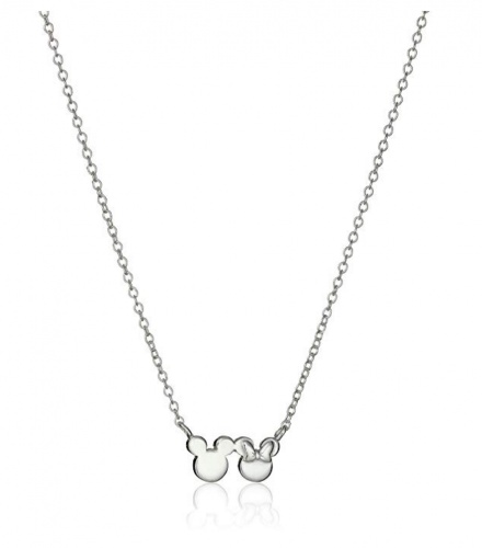 4. Disney Minnie and Mickey Mouse Silhouette Pendant Necklace
