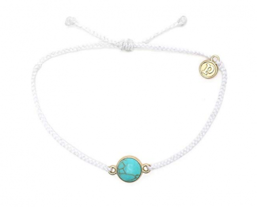 5. Pura Vida Riviera Stone Bezel Braided Bracelet