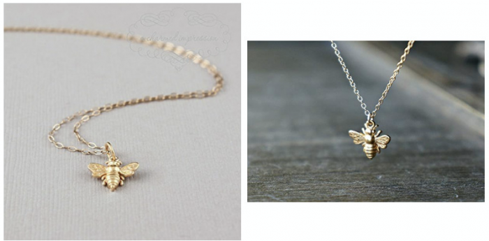A Charmed Impression Little Gold Bee Necklace