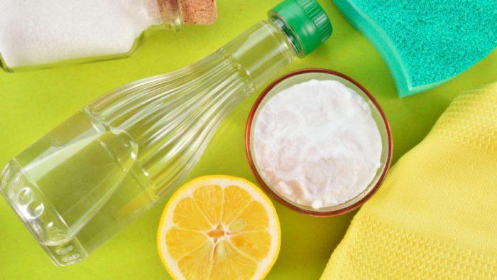 salt, lemon and vinager
