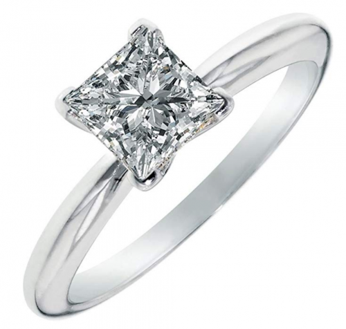 Clara Pucci Moissanite 4-Prong Ring