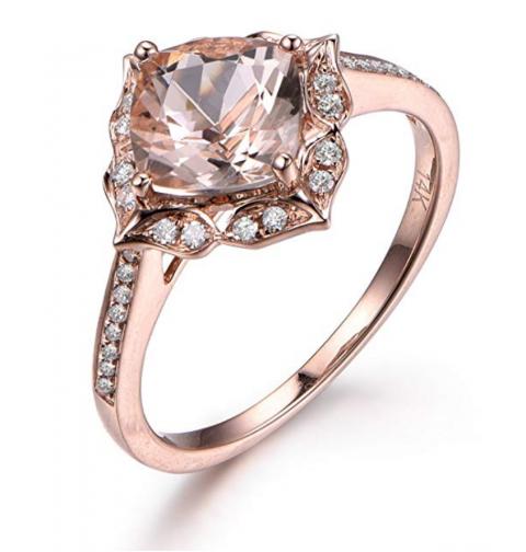 Myraygem Cushion Engagement Ring