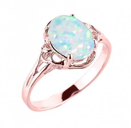 Modern Contemporary Rings October Birthstone Solitaire Ring