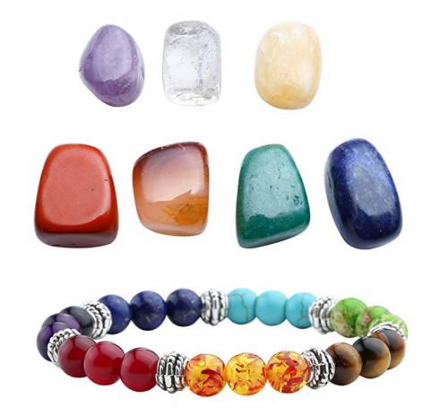 3. Top Plaza 7 Chakra Reiki Healing Crystals & Chakra Bracelet