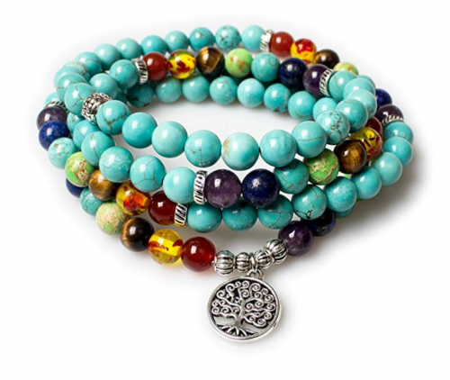 5. Addmluck Jewelry Turquoise Healing Bracelet/Necklace