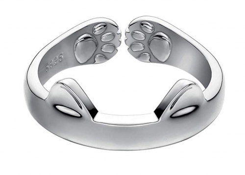 1. Jewever S925 Sterling Silver Cat Ring