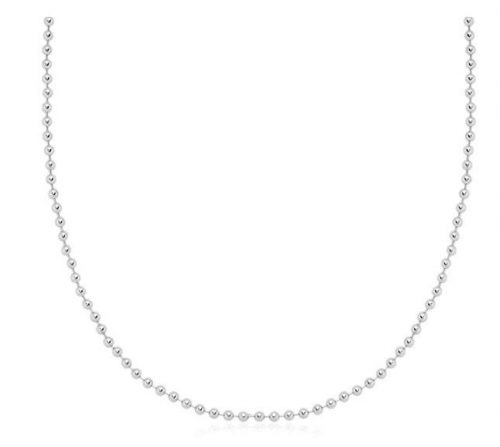 Verona Jewelers 925 Sterling Silver Italian Bead Ball Chain Necklace