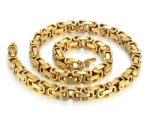 Byzantine types of necklace chains