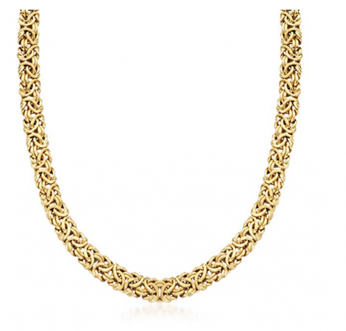 Ross-Simons 18kt Gold Over Sterling Silver Byzantine Necklace