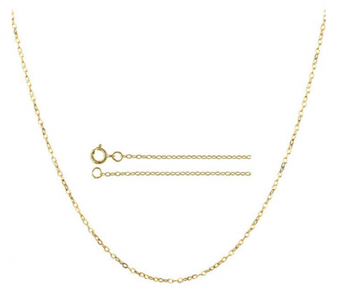 10K Yellow Gold 0.8MM Diamond Cut Cable Link