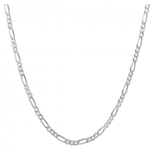 925 Sterling Silver Figaro Sturdy Chain Necklace