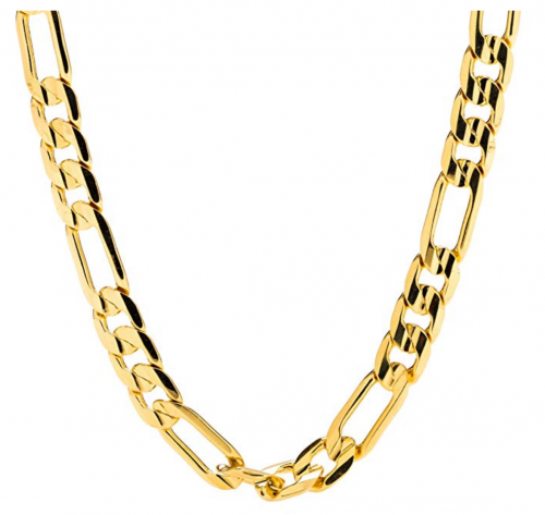 Lifetime Jewelry 7mm Gold Figaro Chain
