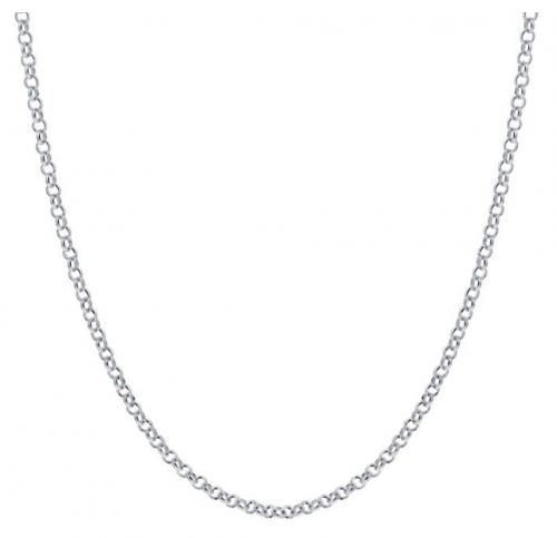 Gem Avenue Italian 925 Sterling Silver Rolo Chain