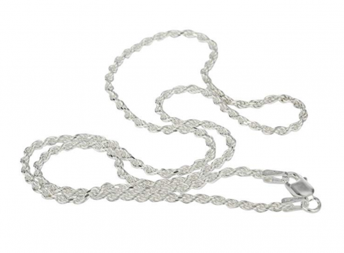 JOTW Sterling Silver 2mm Rope Chain