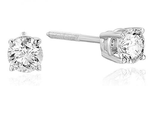 Vir Jewels 1/3 cttw Certified Diamond Stud Earrings/14K White or Yellow Gold