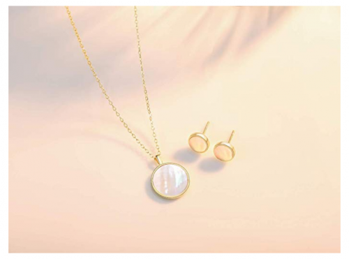mother of pearl earrings and set