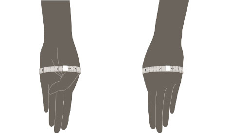 how to measure wrist size for bangles