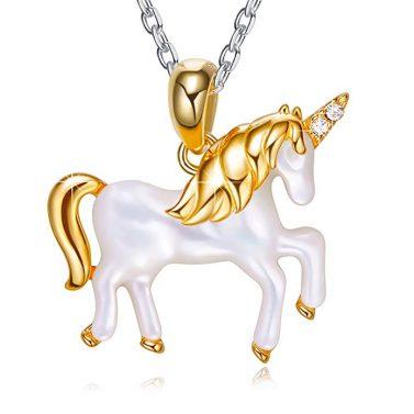 EleShow Unicorn Pendant Necklace