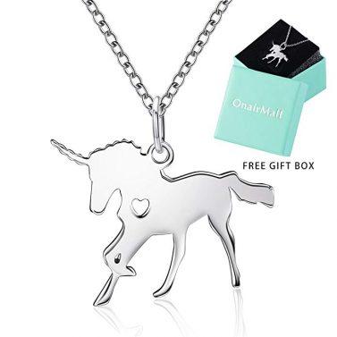 ANUIMOAR Unicorn Pendant Necklace