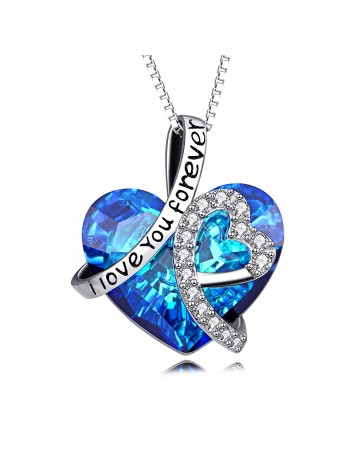AOBOCO I Love You Forever Necklace
