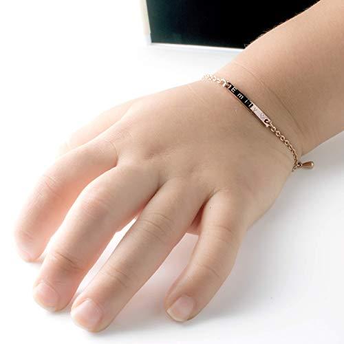 Baby Name Bar id Bracelet Hand