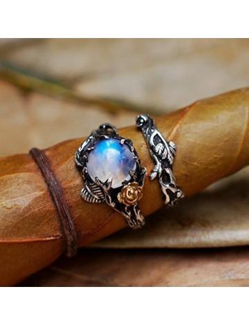 BlackTree Moonstone Ring Set