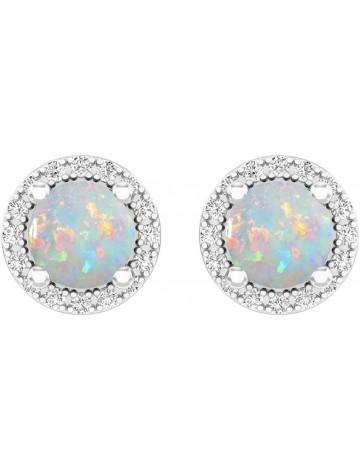 Dazzling Rock Collection Opal Stud Earrings
